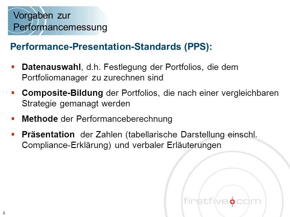 27 Agenda Berichterstattung der Banken und Vermögensverwalter ■ Externe Performancemessung und objektiver Leistungsnachweis