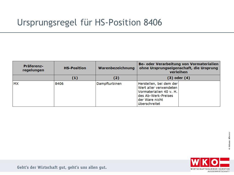 © Johann Alberer Ursprungsregel für HS-Position 8406