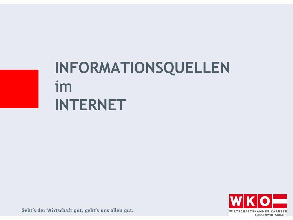 INFORMATIONSQUELLEN im INTERNET