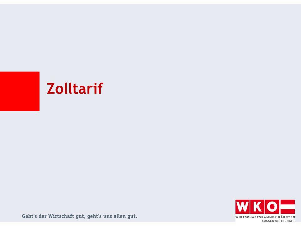 © Johann Alberer Zolltarif - Nomenklatur System für die Bezeichnung und Codierung von Waren Grundlage = Harmonisiertes System (HS)  wird von der Weltzollorganisation (World Customs Organization) verwaltet ersten 6 Stellen der Zolltarifnummer einer Ware sind in allen HS-Vertragsstaaten ident Anwendung des HS-Systems in ca.