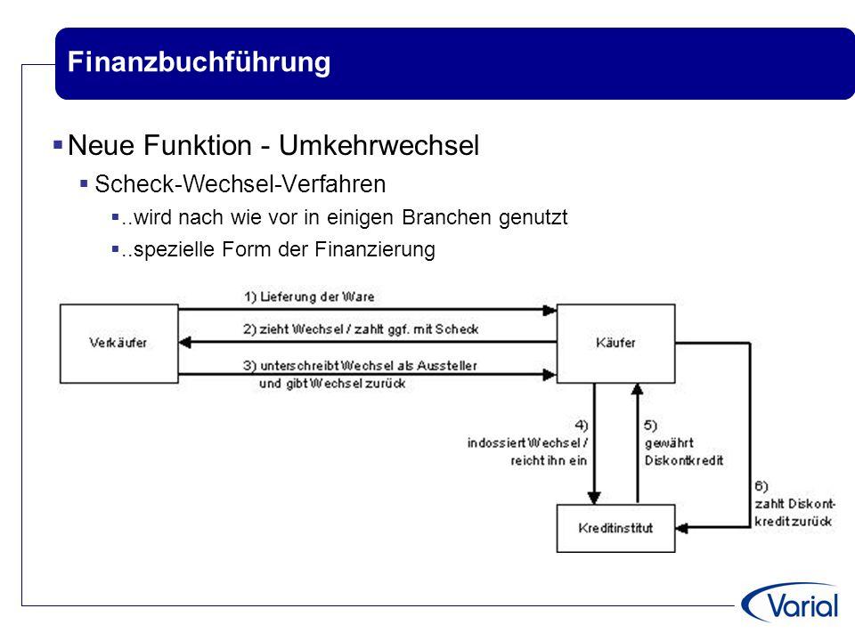 Finanzbuchführung  Neue Funktion - Umkehrwechsel  Scheck-Wechsel-Verfahren ..wird nach wie vor in einigen Branchen genutzt ..spezielle Form der Fi