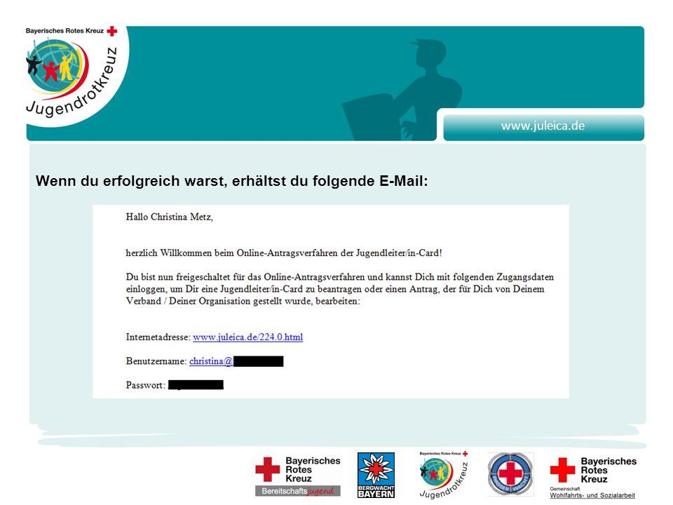 www.juleica.de Nun kannst du das Passwort in die Eingabemaske eintippen und los geht's…