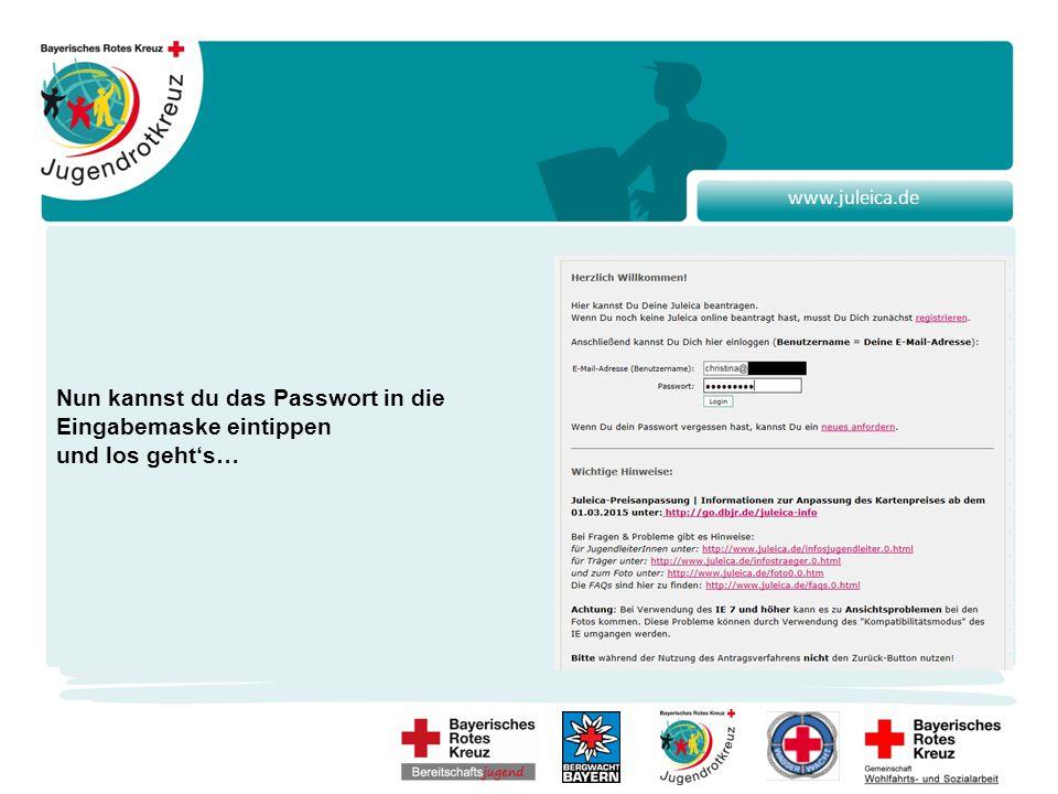 www.juleica.de Nach der Registrierung erscheint folgende Seite.