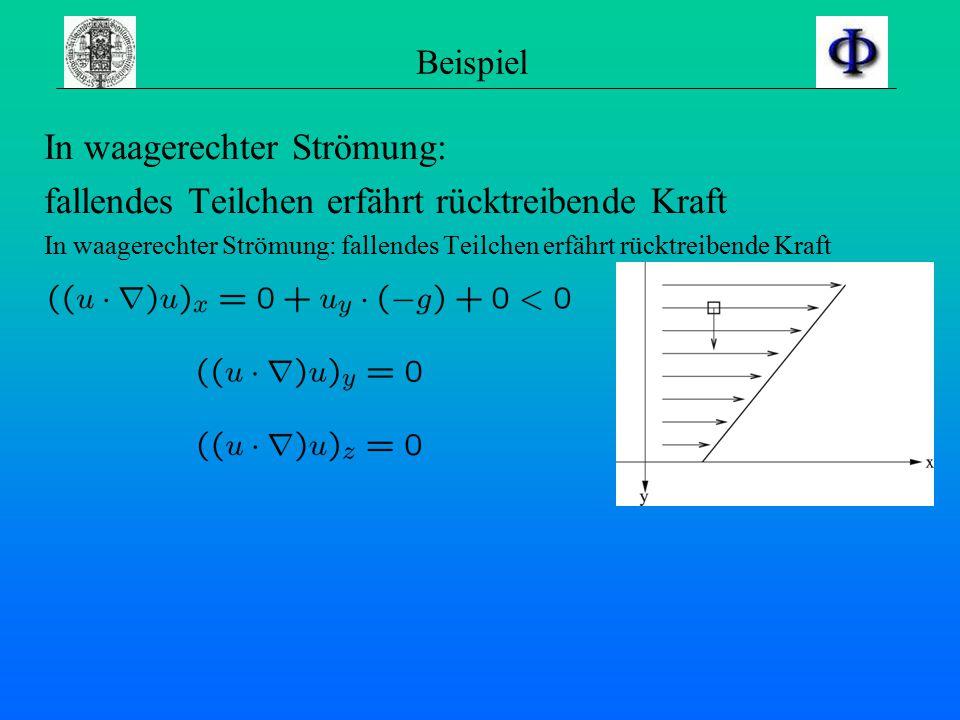 Der Term … …ist interessanter, als es den Anschein hat: Auseinandernehmen ergibt Komponenten enthalten gemischte Terme => Komplexität der Strömungsleh