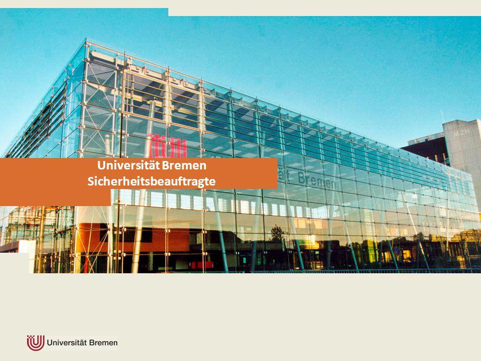 Universität Bremen Sicherheitsbeauftragte