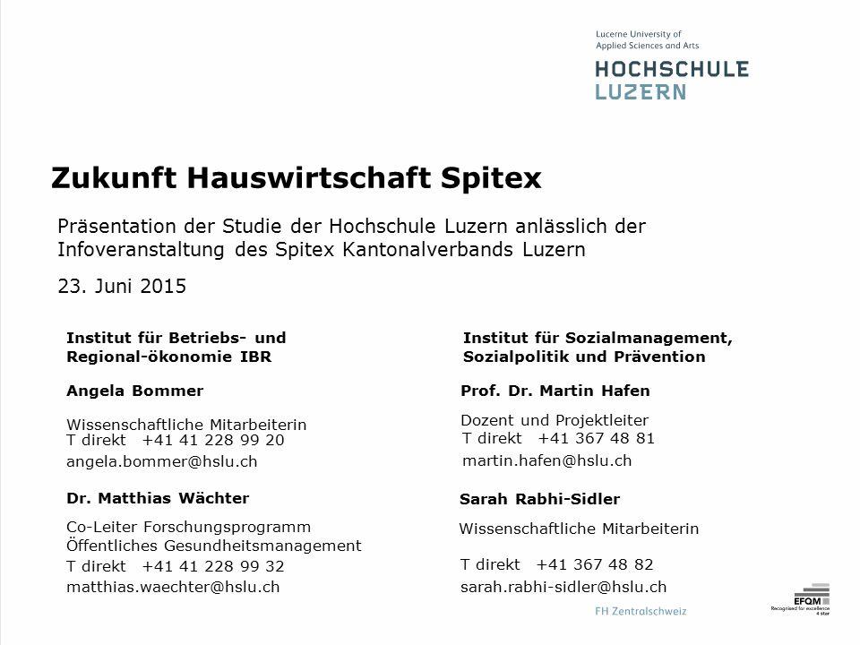 Institut für Sozialmanagement, Sozialpolitik und Prävention Dr. Matthias Wächter Co-Leiter Forschungsprogramm Öffentliches Gesundheitsmanagement T dir