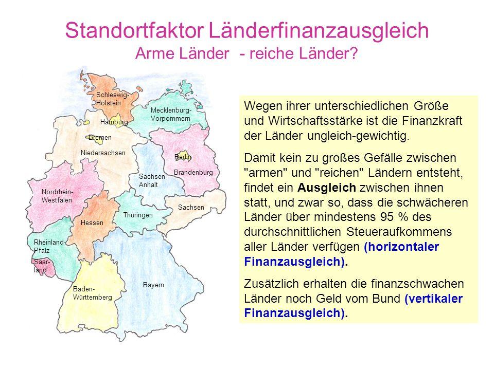 Standortfaktor Subventionen - Beispiel Deutschland Subventionen sind staatliche Unterstützungszahlungen oder steuerliche Begünstigungen für Unternehme