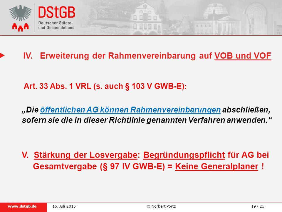 19 / 25www.dstgb.de © Norbert Portz16.Juli 2015 IV.