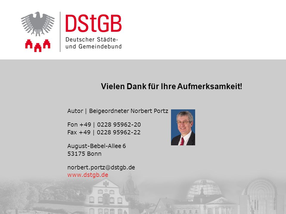 25 / 25www.dstgb.de © Norbert Portz16.Juli 2015 Vielen Dank für Ihre Aufmerksamkeit.