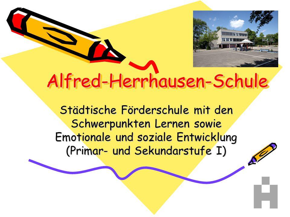 Organisationsform Alfred-Herrhausen- Schule Gesamt 218 SchülerInnen in 17 Klassen Förderschwerpunkt: LE Gesamt: 162 Schüler 10 Klassen (Kl.