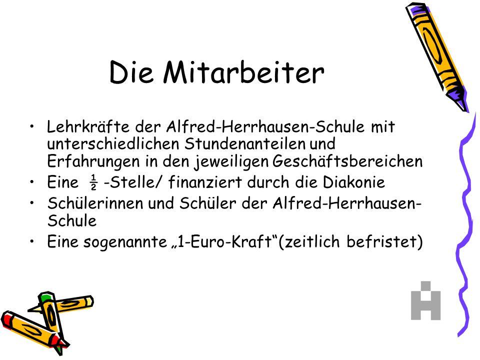 Die Mitarbeiter Lehrkräfte der Alfred-Herrhausen-Schule mit unterschiedlichen Stundenanteilen und Erfahrungen in den jeweiligen Geschäftsbereichen Ein