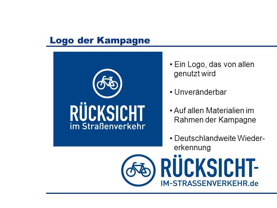 Logo der Kampagne Ein Logo, das von allen genutzt wird Unveränderbar Auf allen Materialien im Rahmen der Kampagne Deutschlandweite Wieder- erkennung