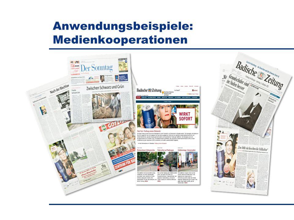 Anwendungsbeispiele: Medienkooperationen