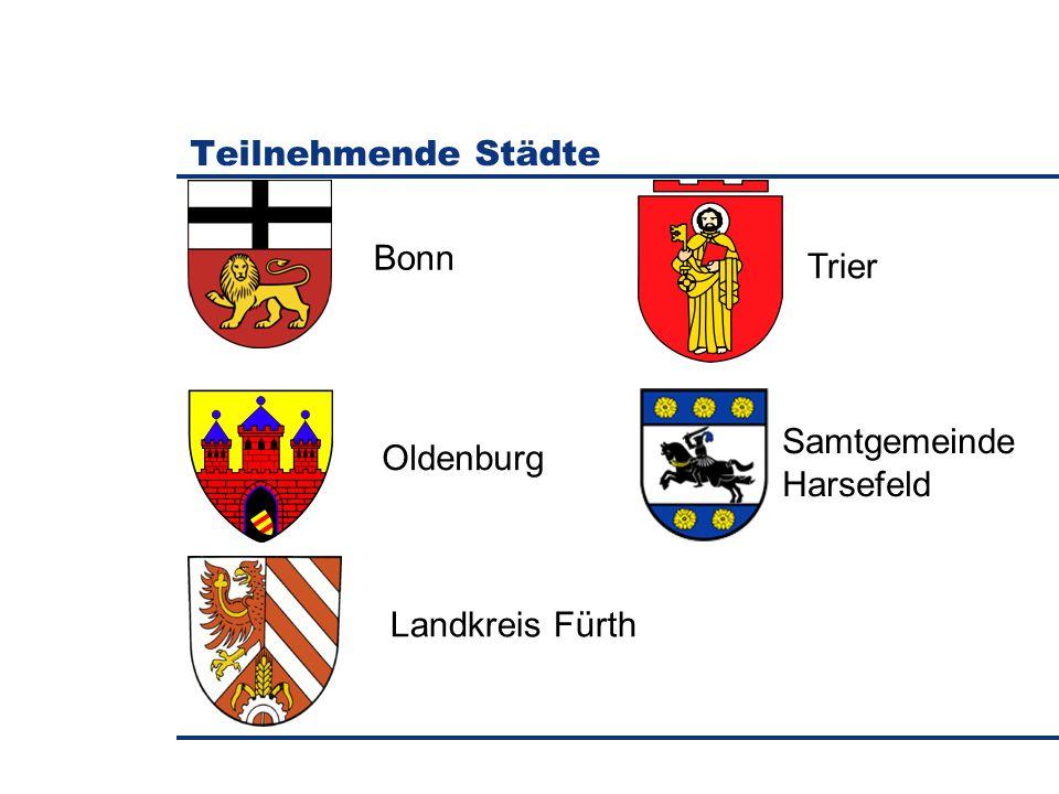 Teilnehmende Städte Bonn Trier Oldenburg Samtgemeinde Harsefeld Landkreis Fürth