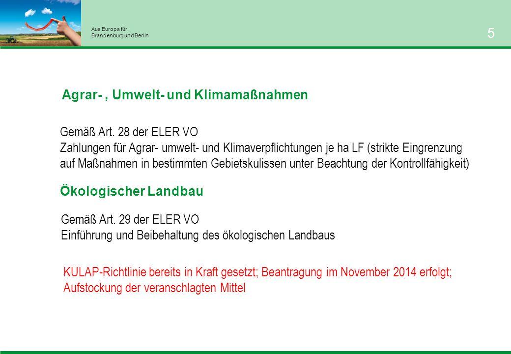Aus Europa für Brandenburg und Berlin 5 Ökologischer Landbau Gemäß Art.