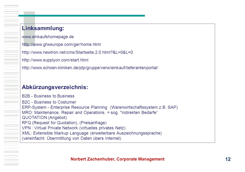 Linksammlung: www.einkaufshomepage.de http://www.ghxeurope.com/ger/home.html http://www.newtron.net/cms/Startseite.2.0.html?&L=0&L=0 http://www.supply