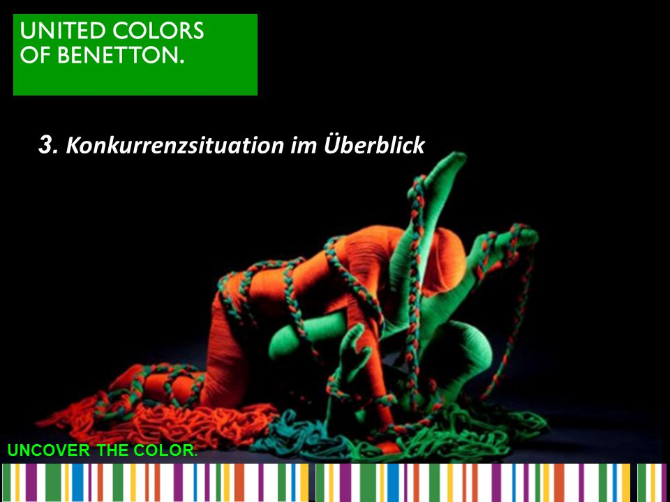 UNCOVER THE COLOR. 3. Konkurrenzsituation im Überblick