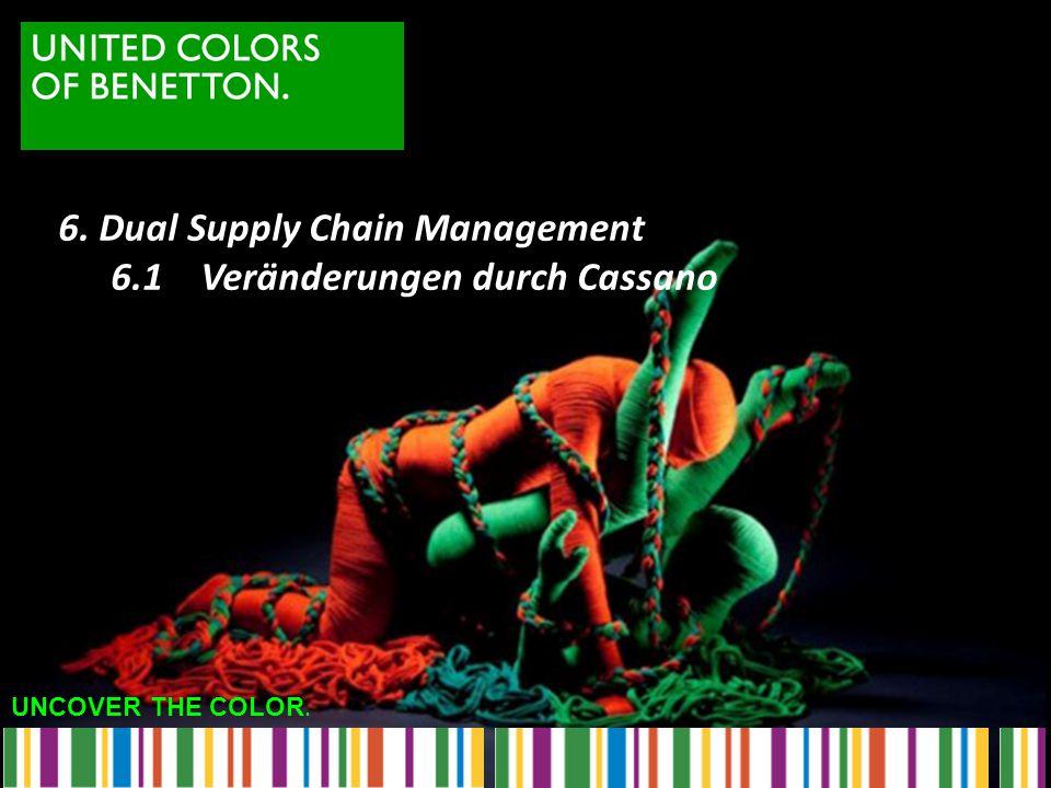 UNCOVER THE COLOR. 6. Dual Supply Chain Management 6.1 Veränderungen durch Cassano