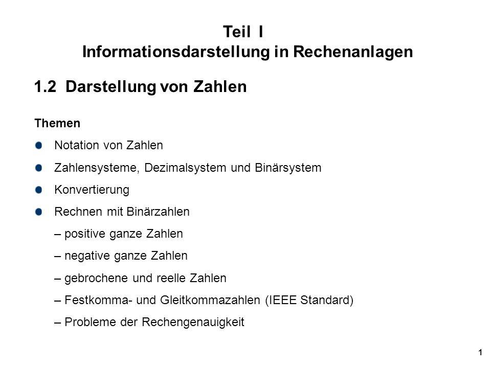 """72 Probleme mit Gleitpunkzahlen Überlauf (""""Overflow ) des Exponenten (z.B."""
