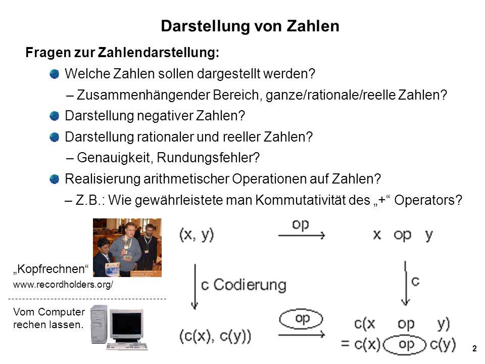 23 Subtraktion im Binärsystem Gegeben: die beiden binären Zahlen a = a n a n-1...