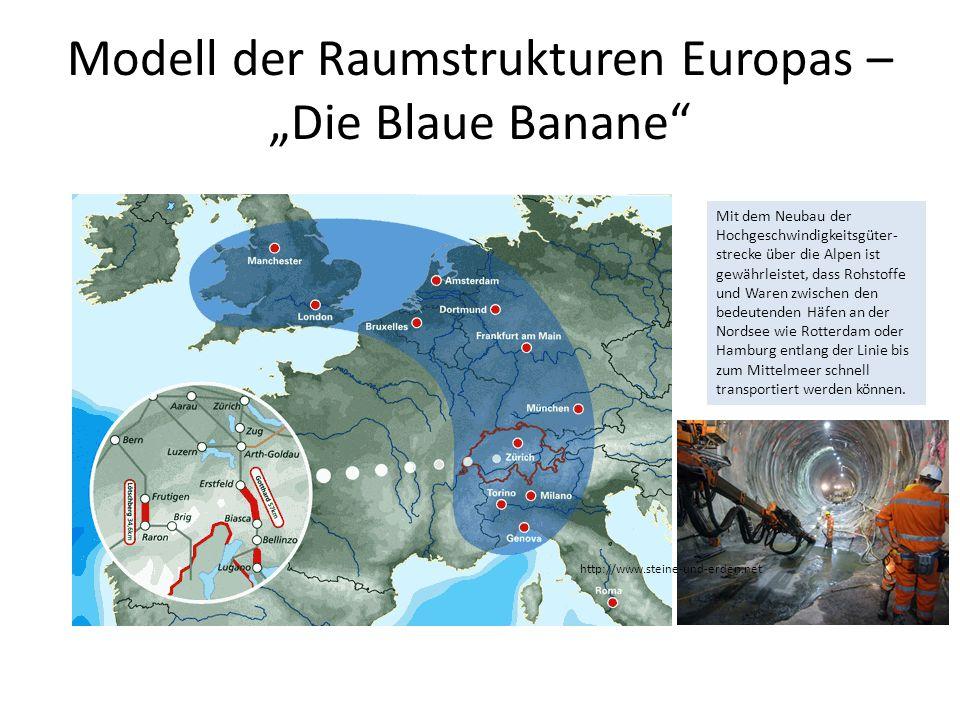 Mit dem Neubau der Hochgeschwindigkeitsgüter- strecke über die Alpen ist gewährleistet, dass Rohstoffe und Waren zwischen den bedeutenden Häfen an der