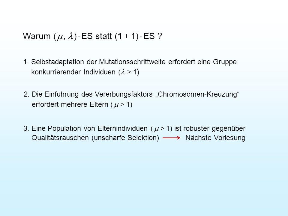 Warum ( ,  ) - ES statt (1 + 1) - ES . 1.