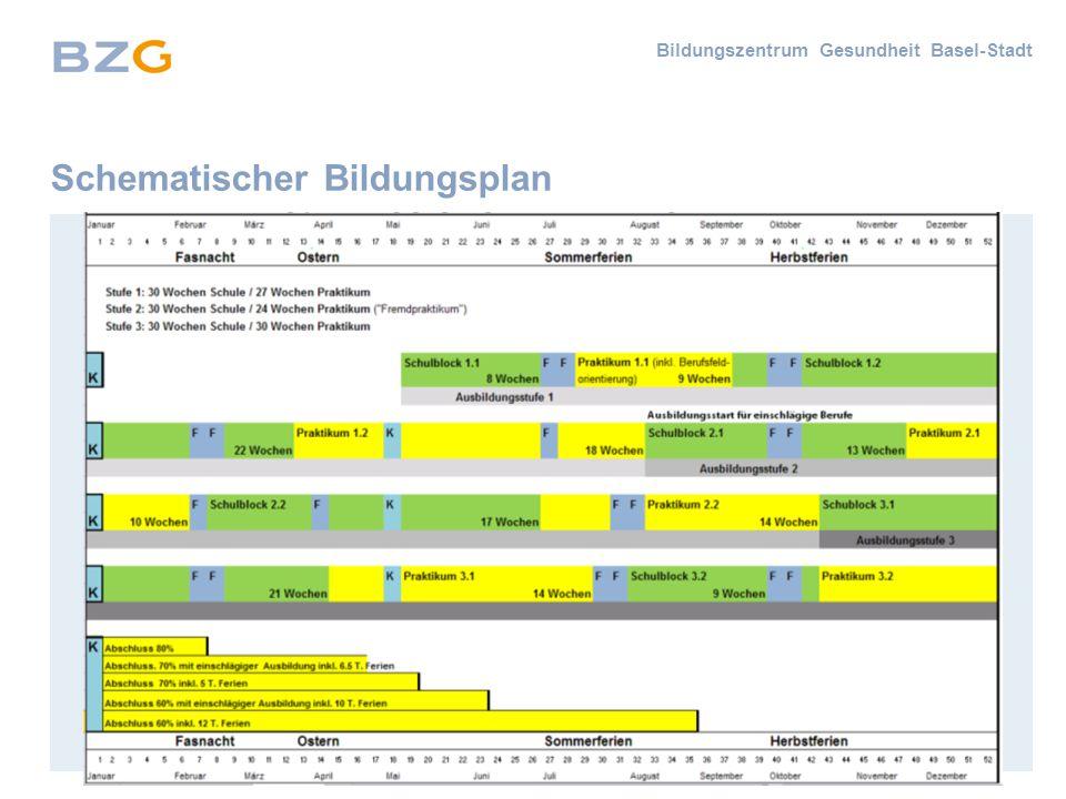 Bildungszentrum Gesundheit Basel-Stadt Schematischer Bildungsplan