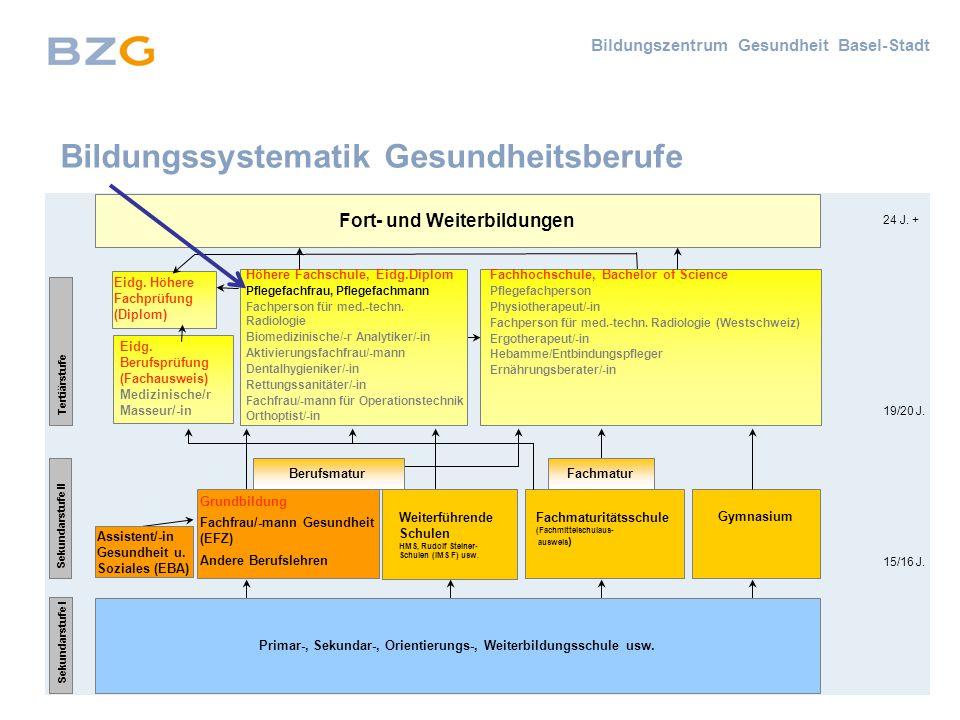 Bildungszentrum Gesundheit Basel-Stadt Primar-, Sekundar-, Orientierungs-, Weiterbildungsschule usw.