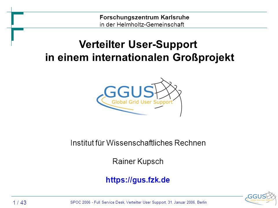 SPOC 2006 - Full Service Desk, Verteilter User Support, 31.