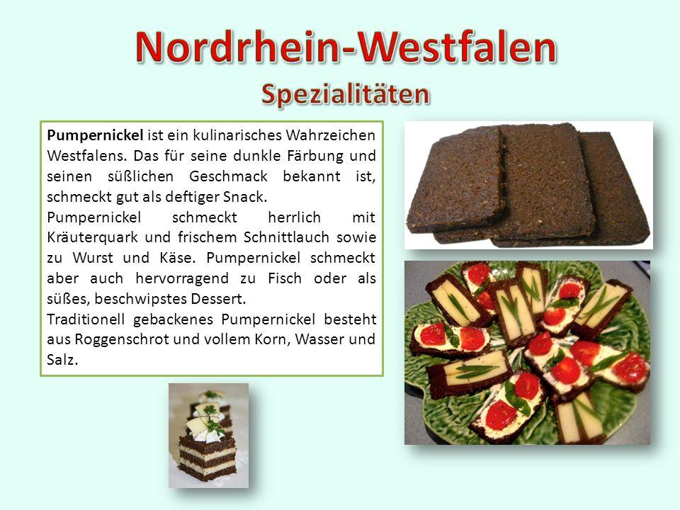 Pumpernickel ist ein kulinarisches Wahrzeichen Westfalens.