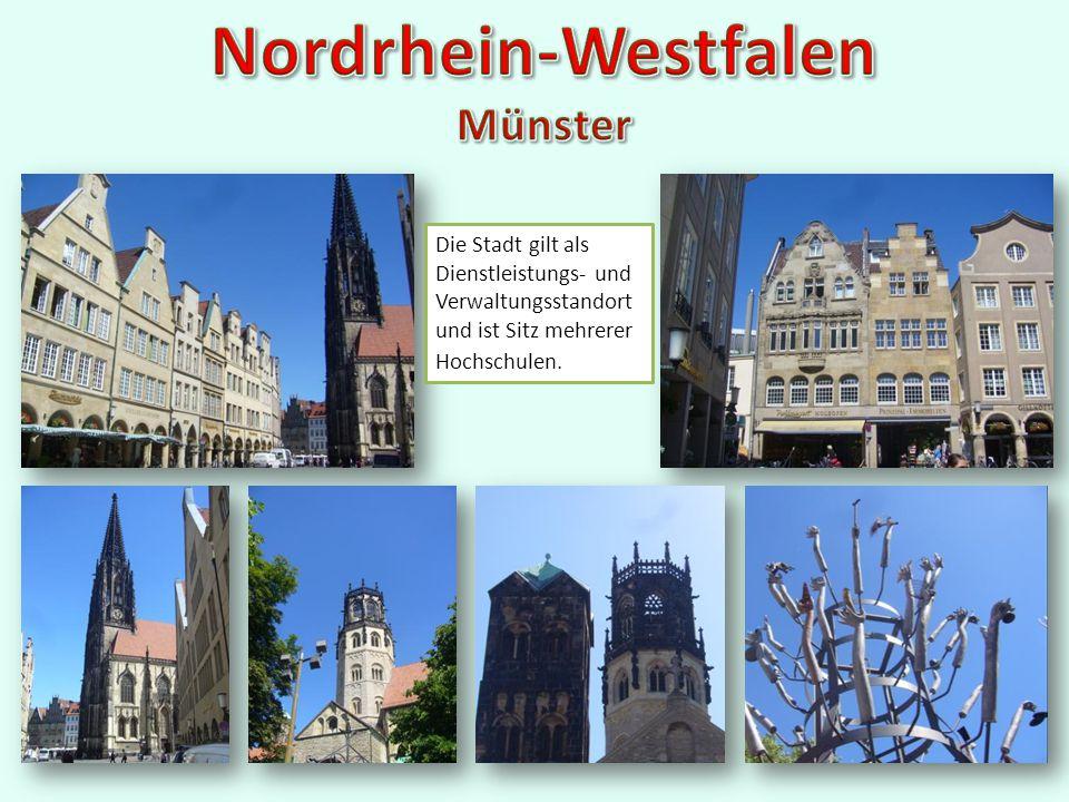 Aachen, eigentlich Bad Aachen, ist eine kreisfreie Stadt und Kurstadt.