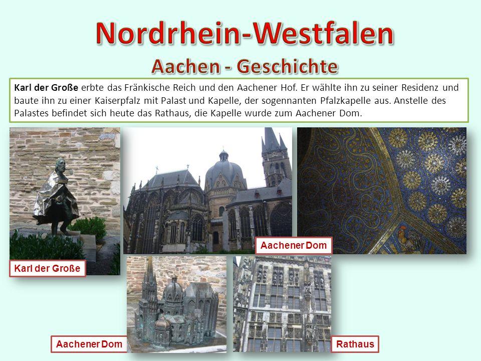 Karl der Große erbte das Fränkische Reich und den Aachener Hof.