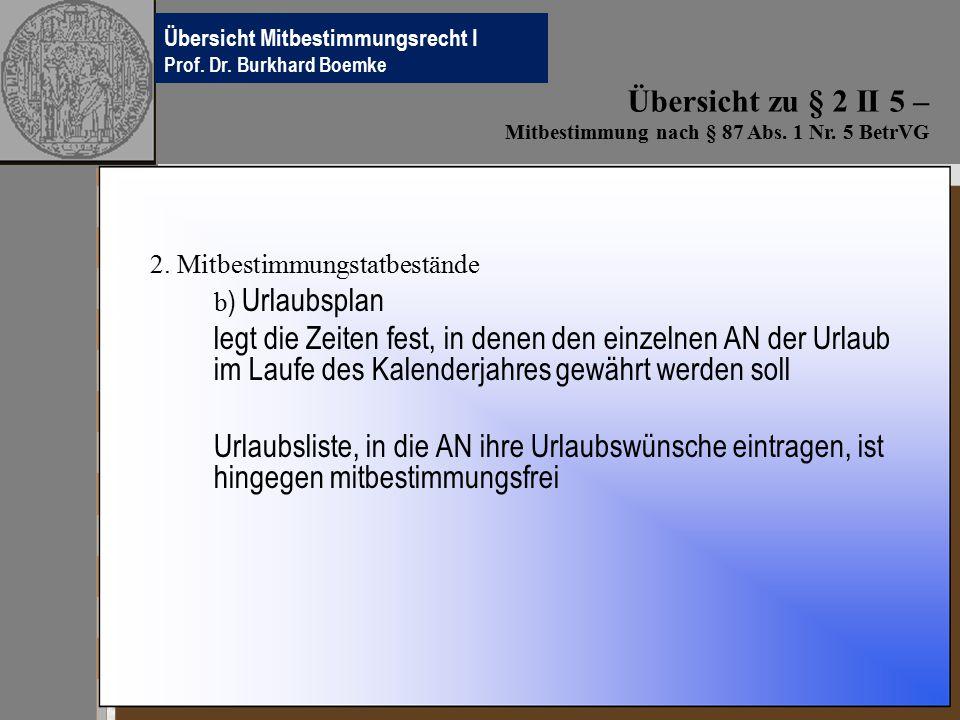 Übersichten Betriebsverfassungsrecht Prof.Dr. Burkhard Boemke 2.