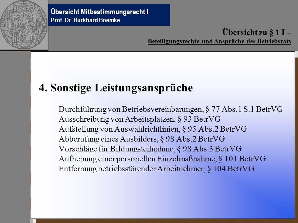 Übersichten Betriebsverfassungsrecht Prof.Dr. Burkhard Boemke 4.