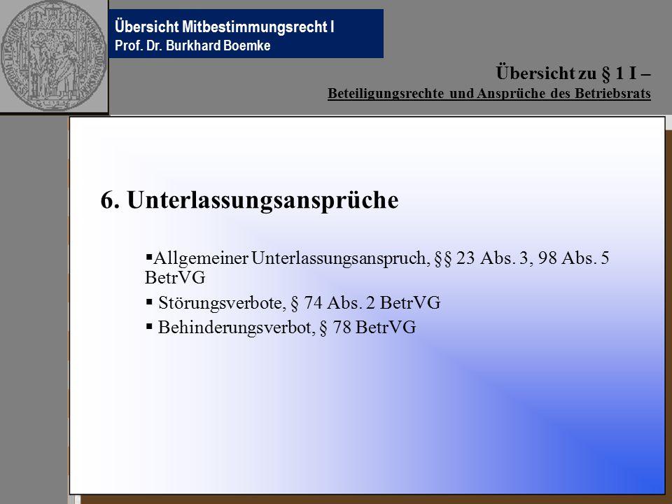 Übersichten Betriebsverfassungsrecht Prof.Dr. Burkhard Boemke 6.