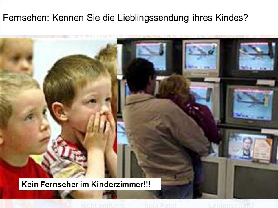 Thomas Klement MIB Ingolstadt 2009 Fernsehen: Kennen Sie die Lieblingssendung ihres Kindes.