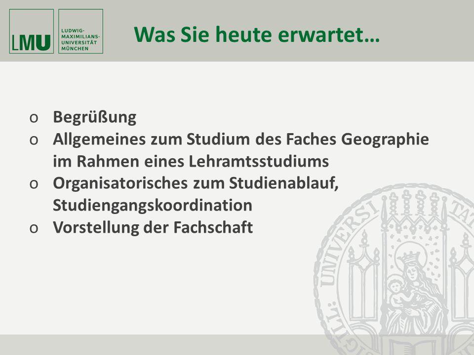 Fakultät für Geowissenschaften Department für Geographie Kurs- und Klausuranmeldesystem auf der Geographie-Homepage:
