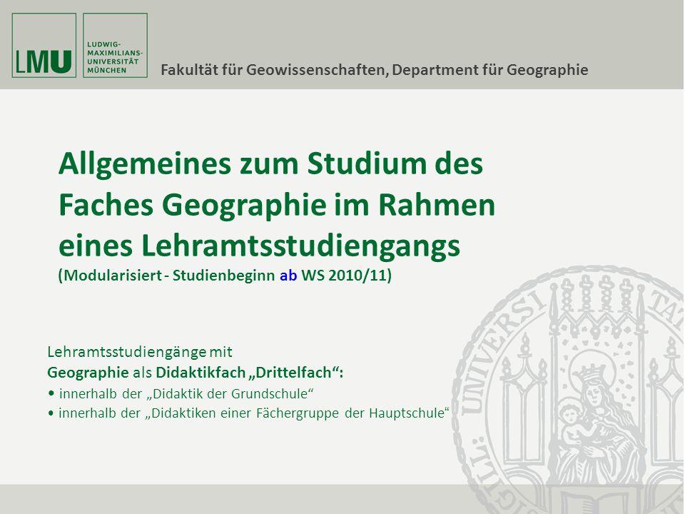 Department für Geographie - Lageplan A – Luisenstr.