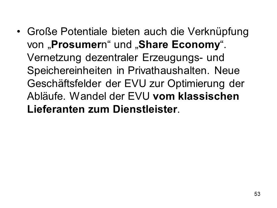 """Große Potentiale bieten auch die Verknüpfung von """"Prosumern"""" und """"Share Economy"""". Vernetzung dezentraler Erzeugungs- und Speichereinheiten in Privatha"""