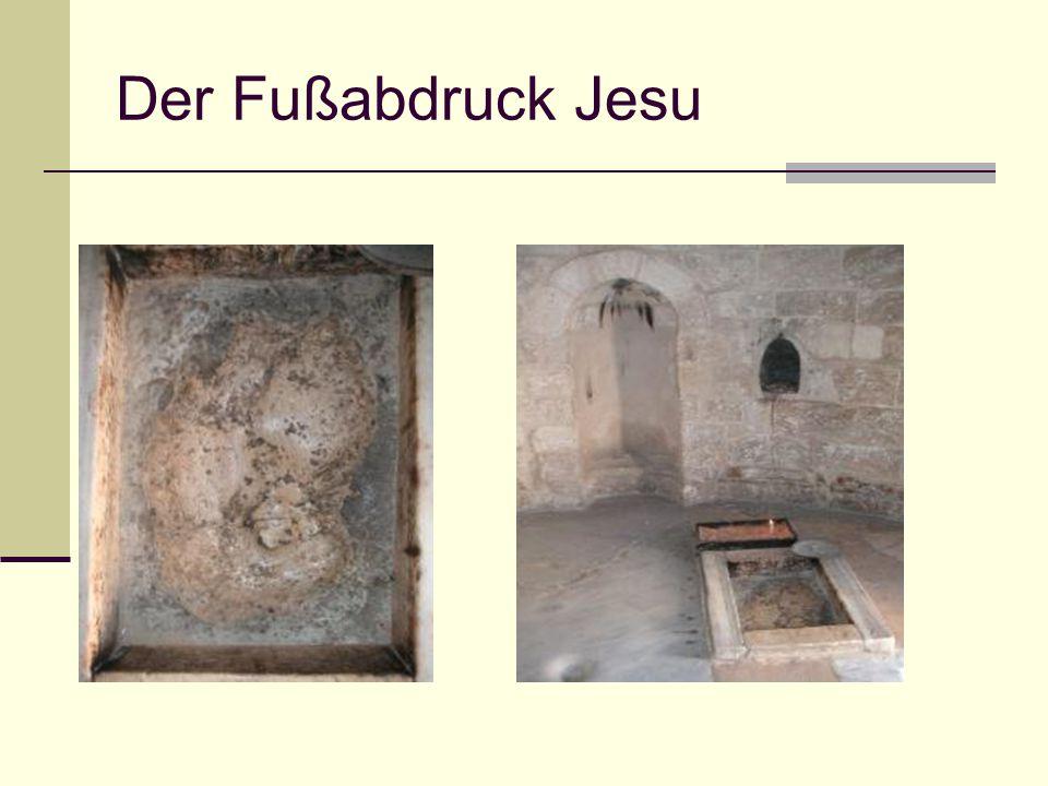 Der Fußabdruck Jesu