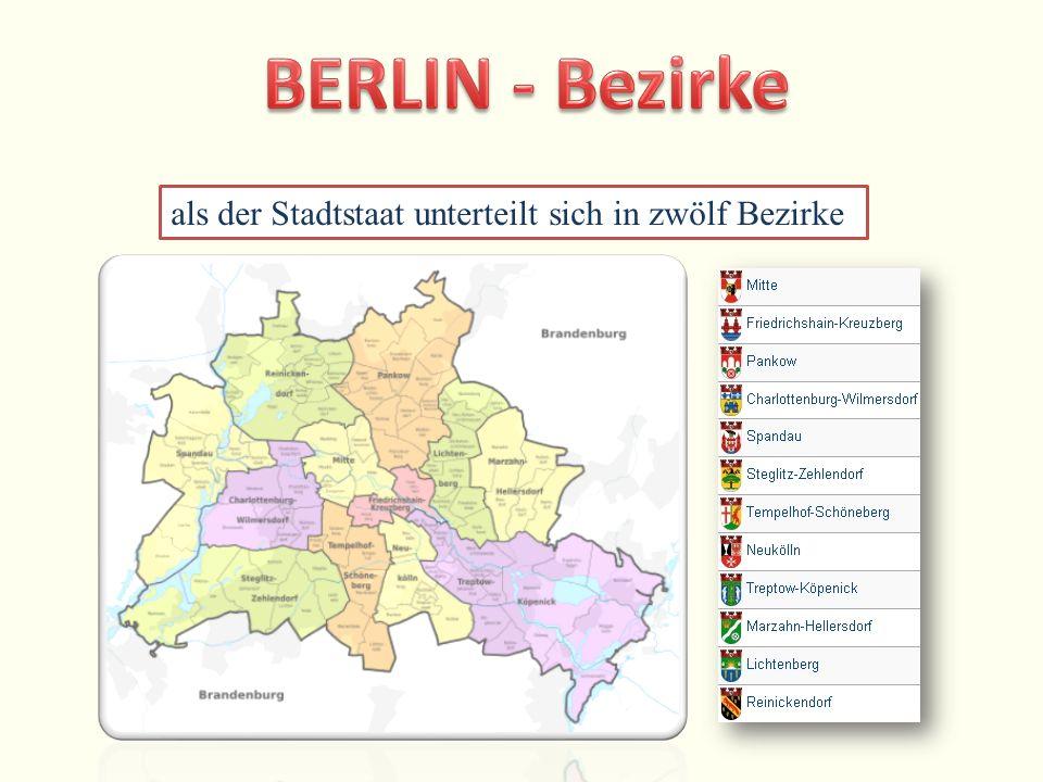 als der Stadtstaat unterteilt sich in zwölf Bezirke