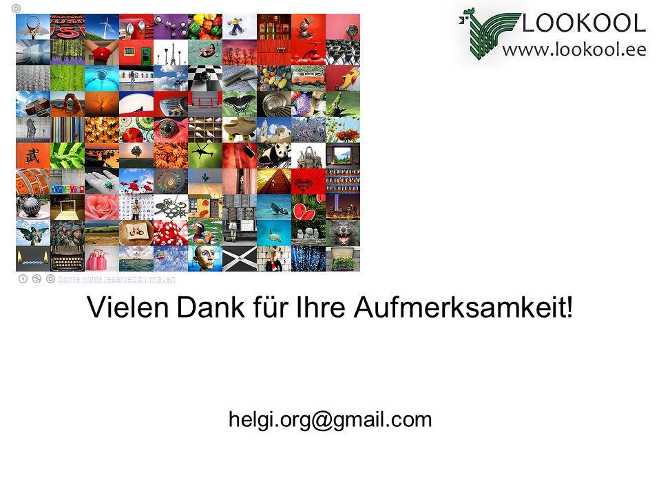 Vielen Dank für Ihre Aufmerksamkeit! helgi.org@gmail.com Some rights reserved by maven