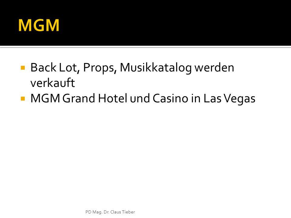  Back Lot, Props, Musikkatalog werden verkauft  MGM Grand Hotel und Casino in Las Vegas PD Mag.