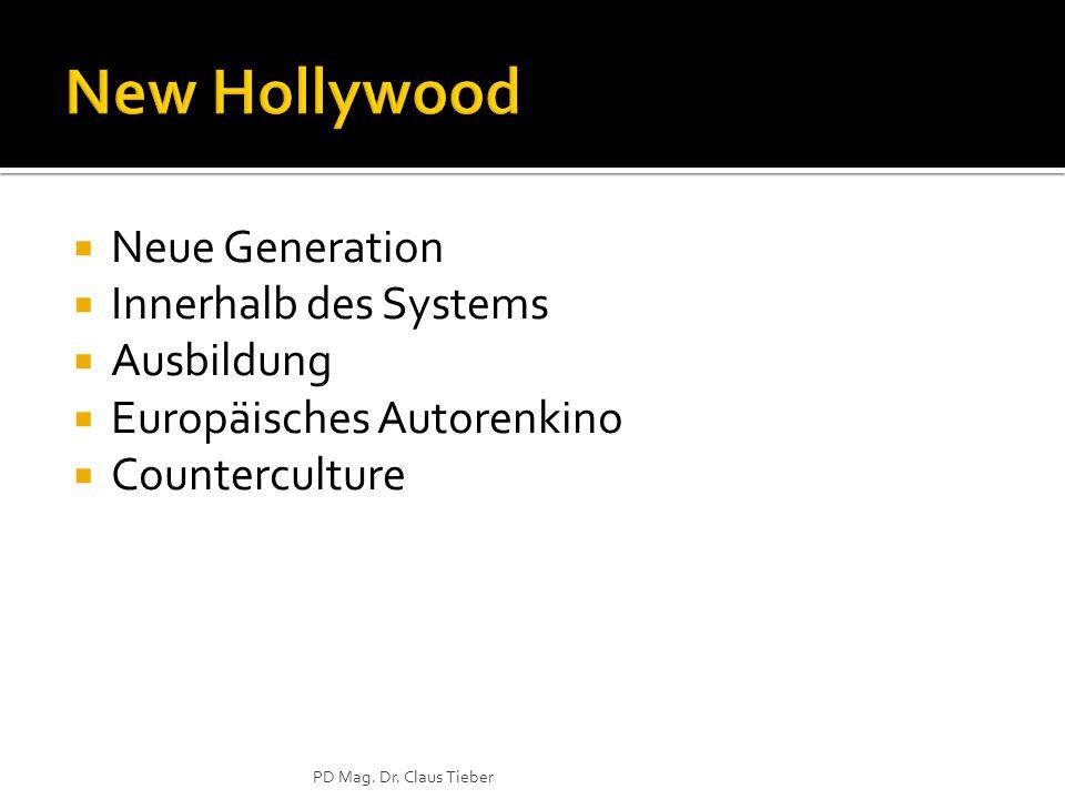  Neue Generation  Innerhalb des Systems  Ausbildung  Europäisches Autorenkino  Counterculture PD Mag.