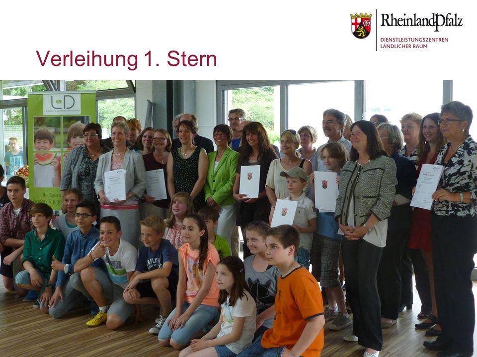 Folie 11© Ernährungsberatung Rheinland-Pfalz Verleihung 1. Stern