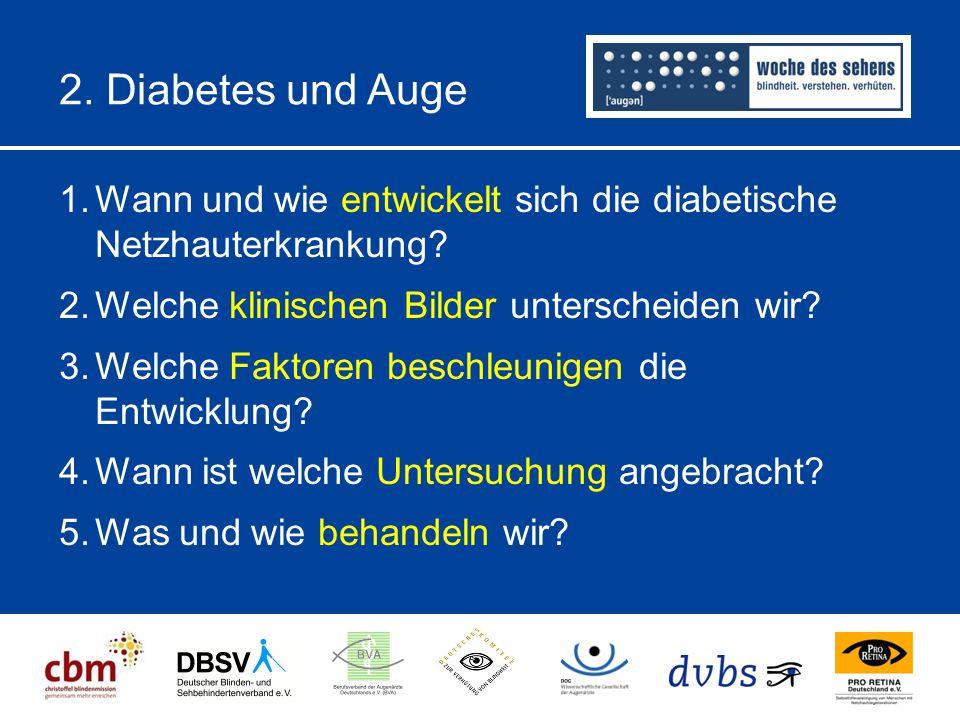 2.Diabetes und Auge 1.Wann und wie entwickelt sich die diabetische Netzhauterkrankung.