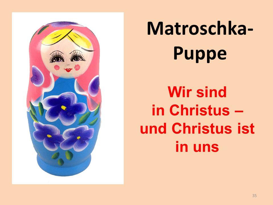 Matroschka- Puppe Wir sind in Christus – und Christus ist in uns 35