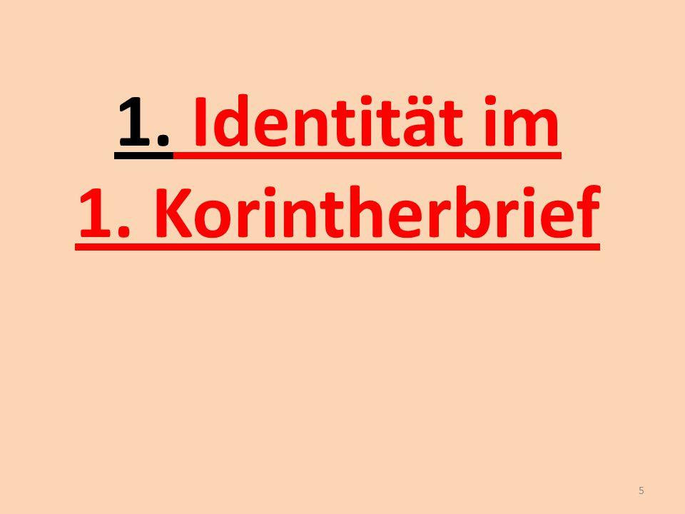 1. Identität im 1. Korintherbrief 5