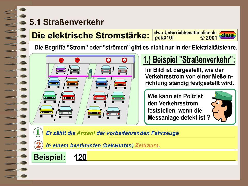 5.3 Das Messen der elektrischen Stromstärke Definition: Abkürzung: Einheit: Messgerät: Ampèremeter