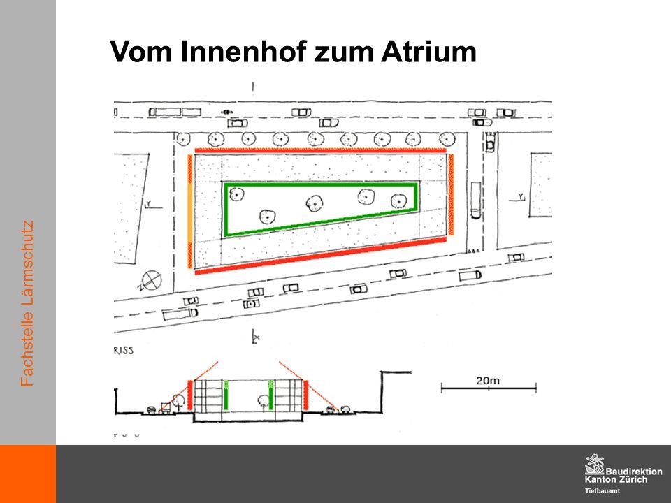 Fachstelle Lärmschutz Vom Innenhof zum Atrium